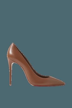 Tan Kate 100 leather pumps | Christian Louboutin | NET-A-PORTER