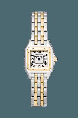 Gold Panthère de Cartier 22mm small 18-karat gold and stainless steel watch | Cartier | NET-A-PORTER
