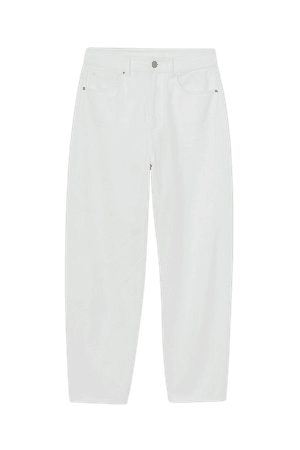 Ankle-length Twill Pants - White