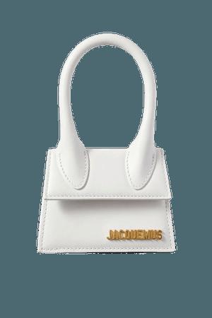 Le Chiquito Mini Leather Tote - White
