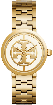 Reva Watch, Gold-Tone Stainless Steel/Ivory, 36 MM