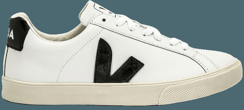 Veja Esplar Sneaker in White & Black | REVOLVE