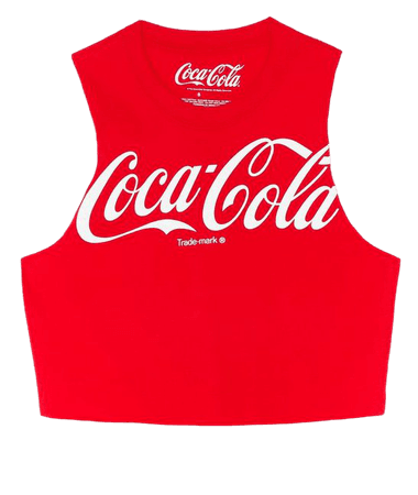 Coca-Cola Cropped Graphic Tank Top   Nasty Gal