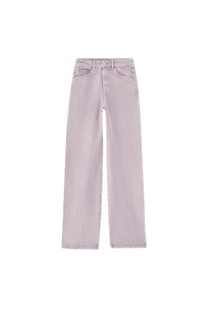 Colored wide-leg jeans - pull&bear