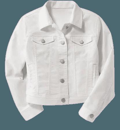 Old Navy White Denim Jacket