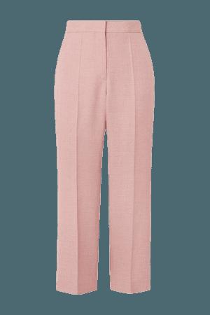 Carlie Cropped Woven Straight-leg Pants - Blush