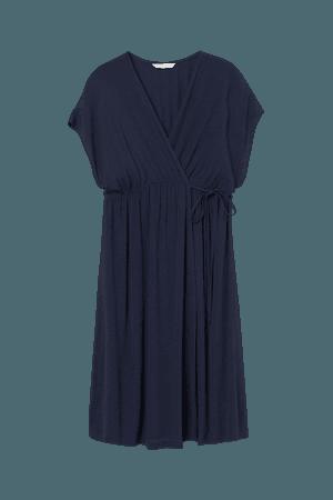 MAMA Wrap Dress - Blue