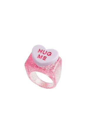 Blackcurrant Pop LOVE HEART Resin Ring | Urban Outfitters