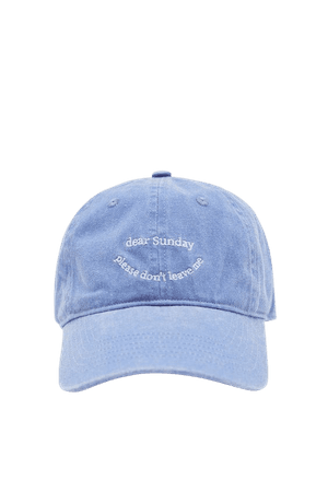 Faded blue cap with embroidery - pull&bear