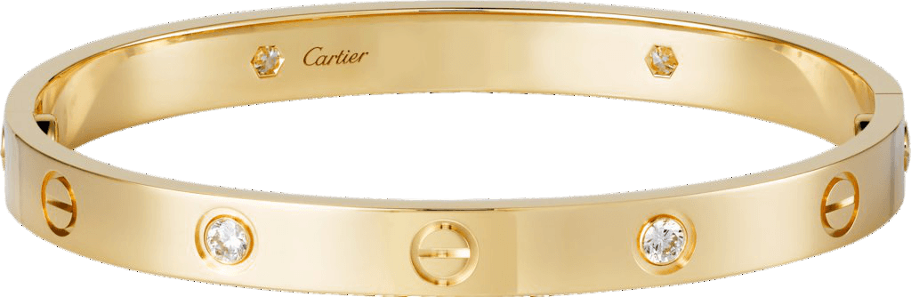 Cartier Love Diamond and Gold Bracelet