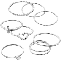 Silver Midi Ring Set