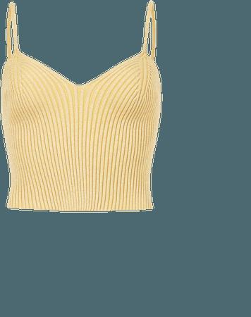 ALLSAINTS US: Womens Lexi Crop Top (gold)