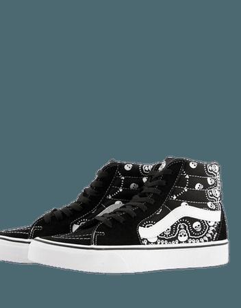Vans UA SK8-Hi sneakers in bandana black | ASOS