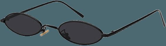 Amazon.com: MEETSUN Vintage Oval Sunglasses Small Metal Frames Designer Gothic Glasses (BLACK GRAY): Clothing