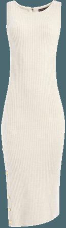 Jenner Crew Neck Fitted Midi Dress
