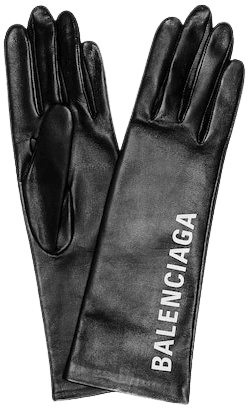 Printed leather gloves