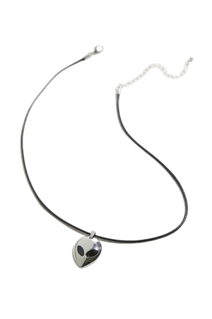 Corded Alien Pendant Necklace   Urban Outfitters