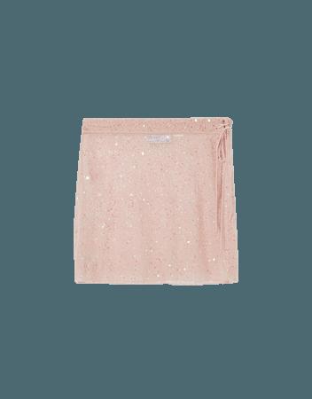 Shiny wrap skirt - Skirts - Woman | Bershka