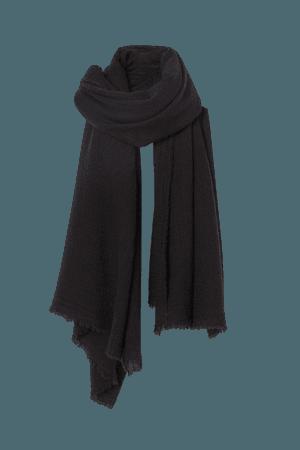 Wool-blend Scarf - Black