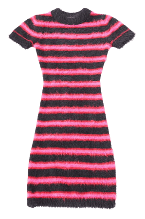 The Ragged Priest Striped Eyelash Knit Dress | Urban Outfitters