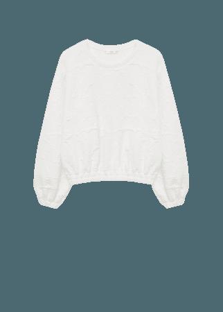 Embossed design sweatshirt - Women | Mango USA
