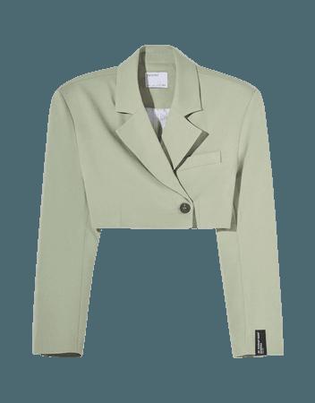 Cropped blazer - Woman | Bershka