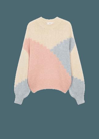 Multi-colored knit sweater - Women   Mango USA
