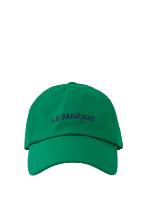 Cap with contrasting embroidery - pull&bear