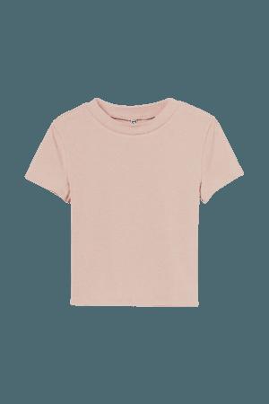 Crop Top - Powder pink - Ladies   H&M US
