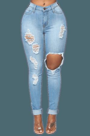 Glistening Jeans - Medium Wash