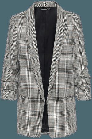 BLANKNYC Plaid Shawl Collar Open Front Blazer | Nordstrom