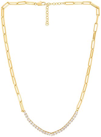 Luv AJ Ballier Chain Link Necklace in Gold | REVOLVE