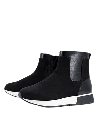 River Island contrast patent branded high top sneakers in black   ASOS