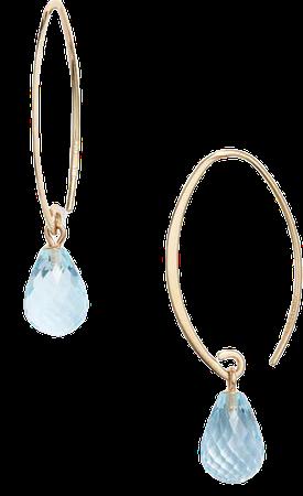 Jane Basch Designs Briolette Gemstone Hoop Earrings | Nordstrom