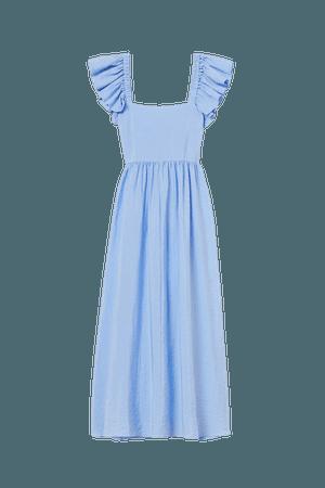 Lyocell-blend Dress - Blue