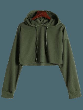 olive green crop hoodie - Google Search