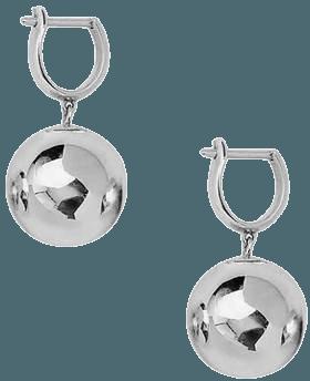 ANINE BING Ball Drop Earrings - Silver