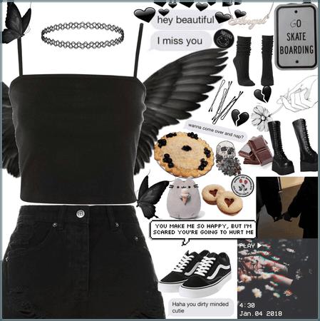 Dark Angel Aesthetic Fit 🖤❣️🖤