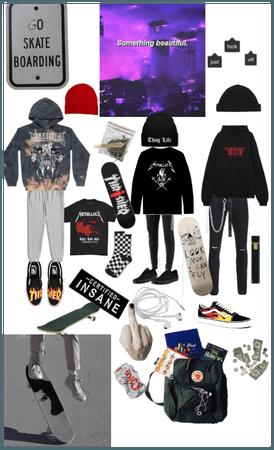 Grunge edgy sad skater