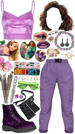 modern Rapunzel from Tangled