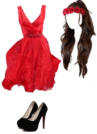 Red Semi Formal