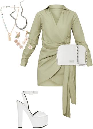 cute sage green fit <3