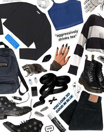 black and blue with attitude