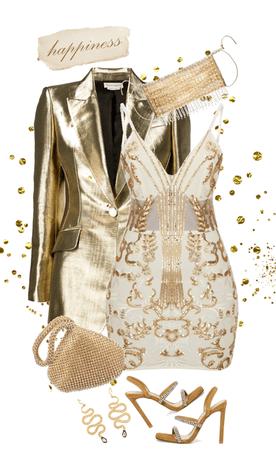 Gold Sparkle Mask