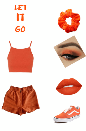 monochromatic orange