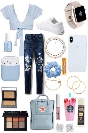 baby blue vsco