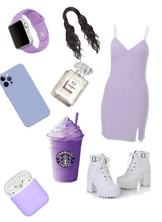 casual pastel purple