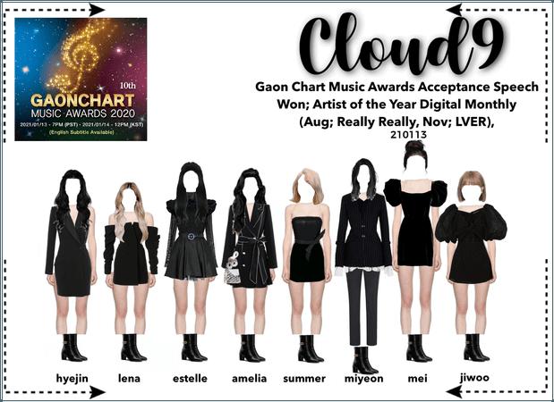 Cloud9 (구름아홉)   Gaon Chart Awards Speech   210113
