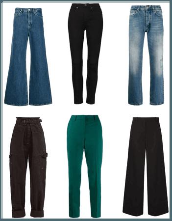 Pantalones rectos, skinny