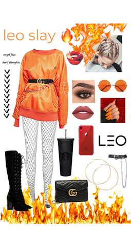Leo Slay Outfit 🔥🧡